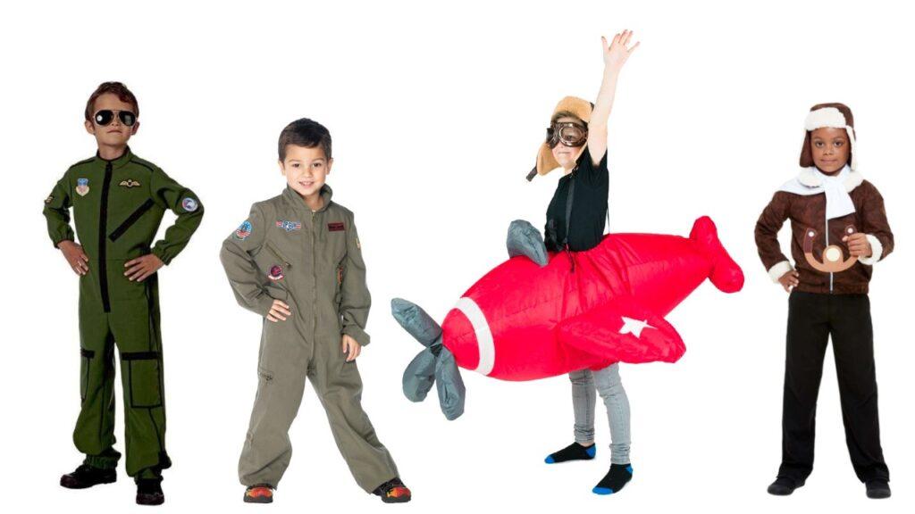 pilot kostume til dreng pilot kostume til pige flyvemaskine kostume fly kostume til børn WW1 kostume til børn jægerpilot kostume til barn pilot børnekostume