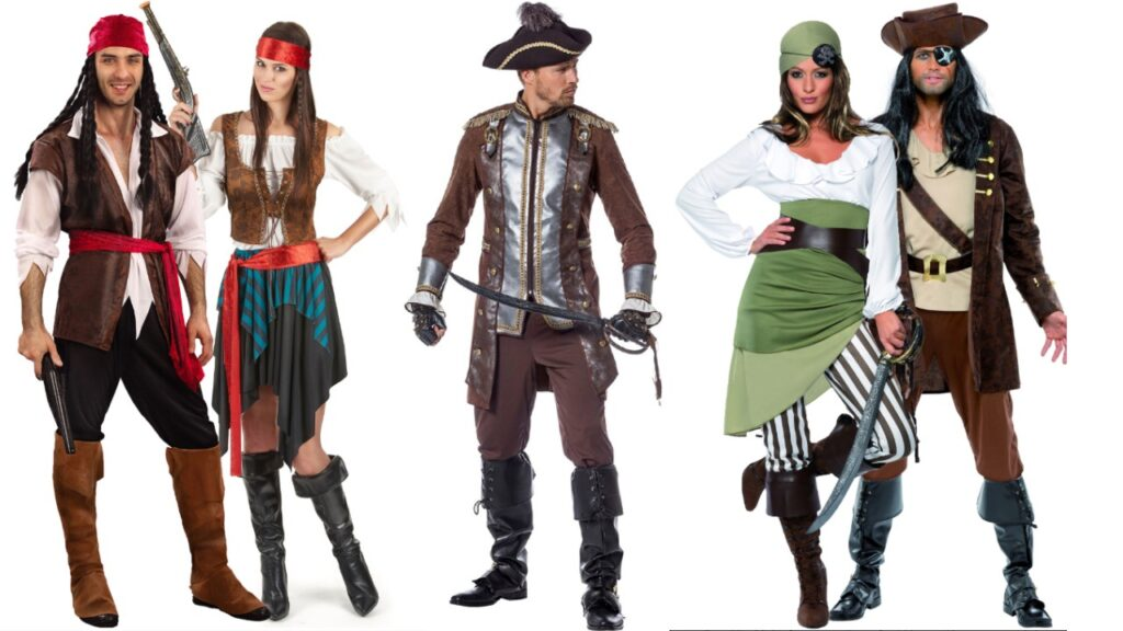pirat kostume til voksne pirat temafest piratfest kostume til voksne prat udklædning pirat kjole pirat tøj til fastelavn