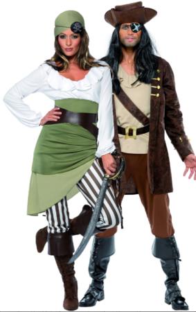 pirat parkostume til voksne pirat kostume til par