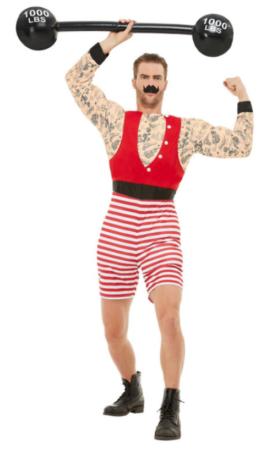 stærk mand kostume cirkus udklædning sidste skoledag kostume sjovt kostume