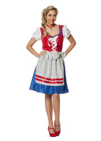 Tyrolerkjole til voksne 322x450 - Oktoberfest kostume til kvinder