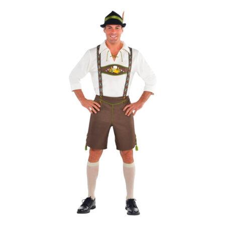 klassisk tyroler kostume til mænd lederhosen oktoberefest mænd ølfest kostume