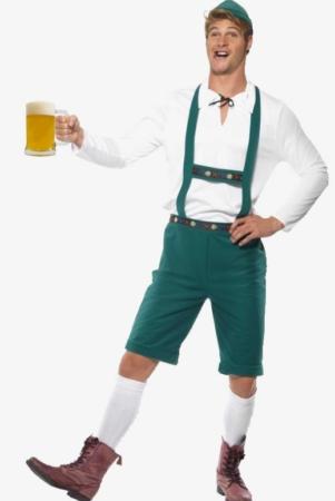 oktoberfest kostume til mænd tyroler kostume til mænd grønne lederhosen