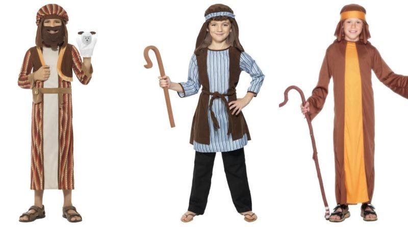 hyrde kostume til børn fårehyrde børnekostume krybbespil udklædning julekostume de bedste hyrdekostumer