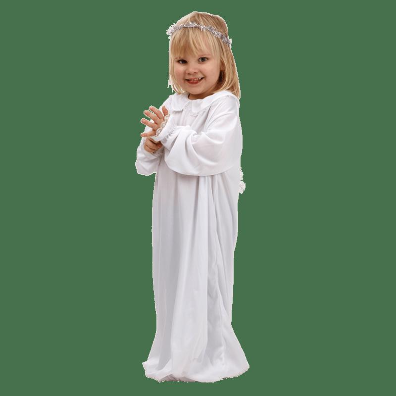 lucia kjole til børn santa luciakjole piger skt lucia hvid kjole lucia optog kjole