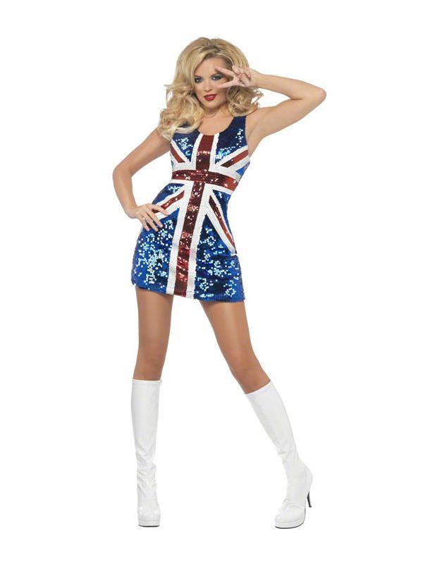 90er fest kostume 90er tøj 90er kostume 90er udklædning 90er temafest geri spice girl kostume spice girl udklædning til voksne karnevalskostume