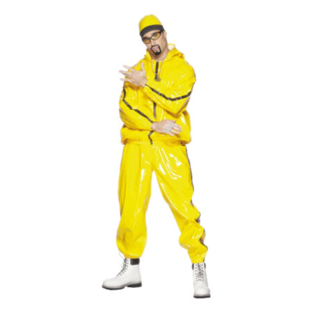 ali g kostume til voksne udklædning 90erne 90ere tøj 90 bukser gult kostume