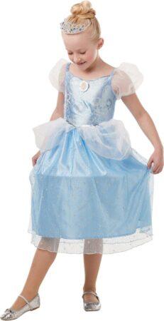 askepot kjole til piger disney askepot kostume 4 år lyseblå prinsessekjole tylkjole 5 år