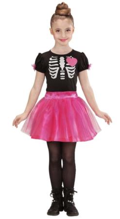 ballerina skelet halloween kostume til piger