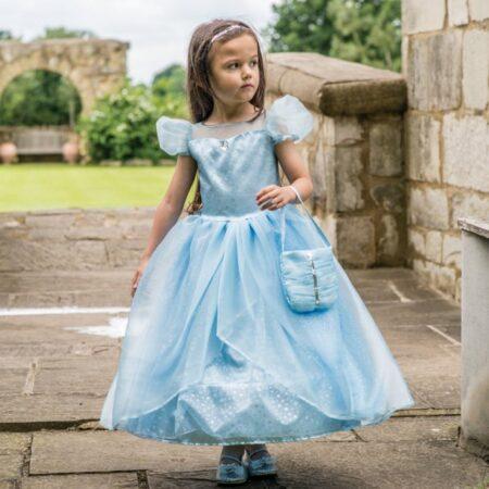 blå prinsesse kjole askeport luksus kjole til piger askepot børnekostume