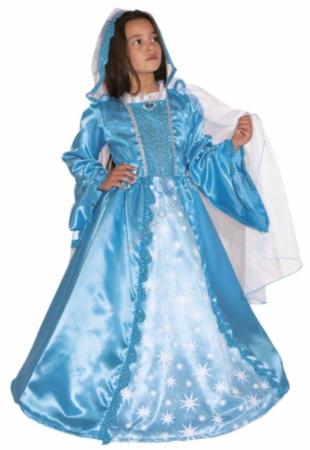 blå prinsesse kjole prinsesse kostume til piger luksus fastelavnskostume