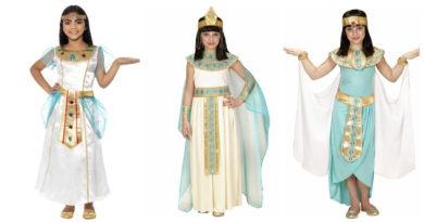kleopatra kostume til børn kleopatra børnekostume kleopatra udklædning til børn kleopatra kostume til piger dronning kostume til piger dronning kleopatra kostume fastelavnskostume hvidt børnekostume egypisk dronning kostume egyptisk kostume til børn