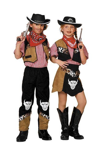 cowboy kostume til børn cowboy børnekostume buffalo kostume det vilde vesten fastelavnskostume fastelavnsudklædning billig kostume til piger amerikansk kostume