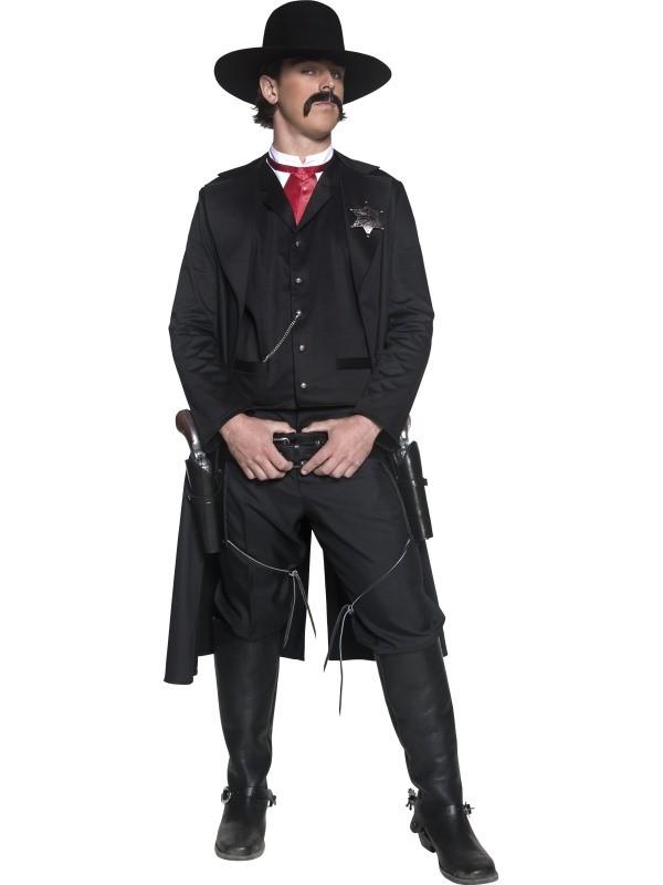cowboy kostume til voksne komplet cowboy udklædning sherif forklædning cowboy kostume det vilde vesten kostume amerikansk kostume