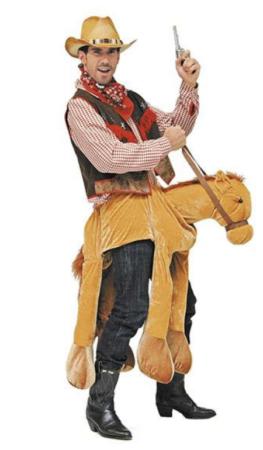 cowboy til hest kostume til voksne