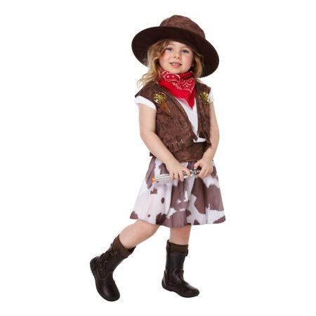 cowgirl udklædning til toddler cowboy pige kostume 3 år