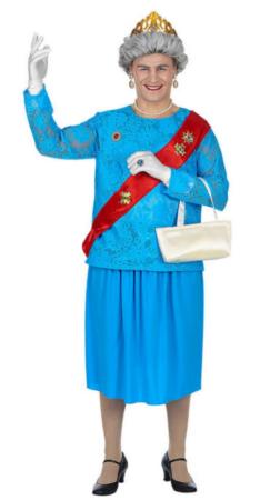 dronning elisabeth kostume til mænd dronning af england udklædning til mænd