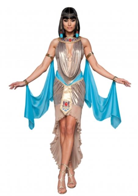 dronning kleopatra kostume i guld