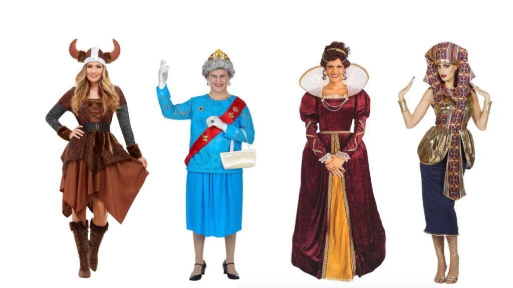 dronning kostume til voksne dronning udklædning til voksne dronning kjole temafest kostume kongeligt kostume