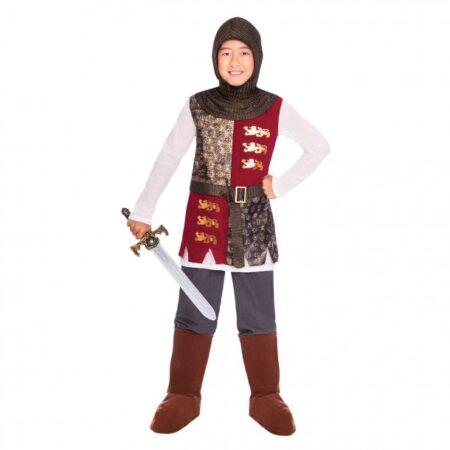 engelsk knight kostume til børn ridder udklædning rollespil kostume til børn