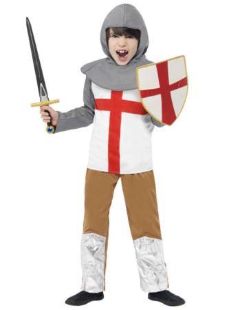 engelsk ridder kostume til drenge
