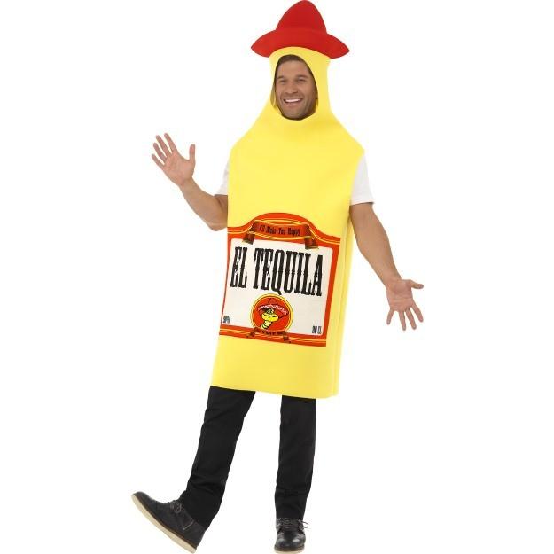 flaskekostume drikke kostume nytårskostume karnevalskostume tequila kostume drikkekostume festkostume tequila flaske kostume mexikans kostume