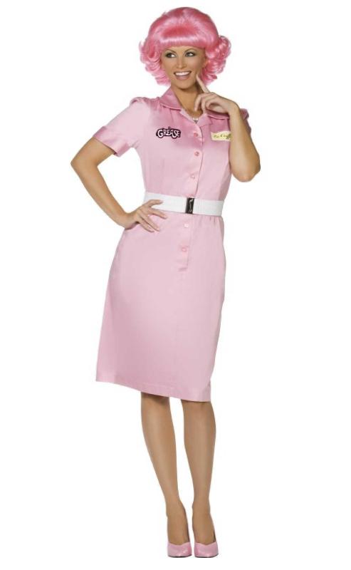 grease pink grease kostume til kvinder 1950erne kostume pink