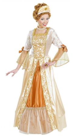 gylden prinsesse kostume barok kostume til voksne guld prinsesse kongelig udklædning historisk kostume