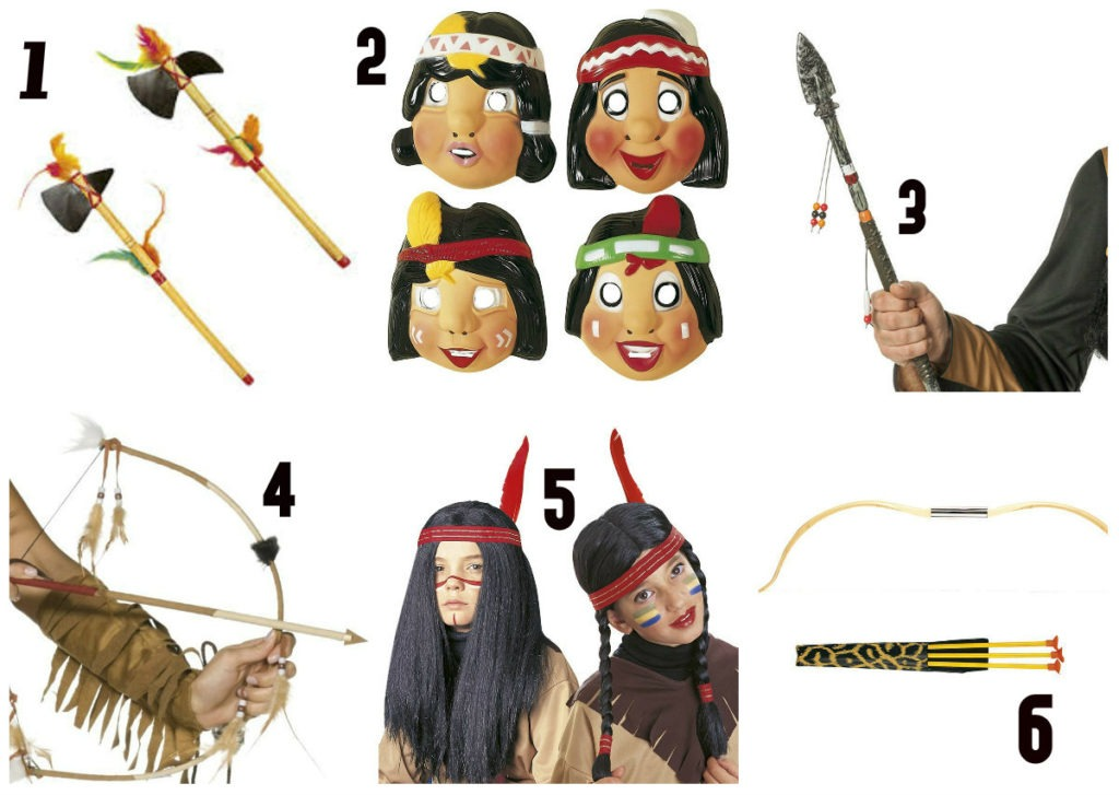 indianer kostume til børn indianer høvding kostume tilbehør til indianer kostume bue og pil til fastelavn indianer paryk til børn indianer maske til børn indianerøkse