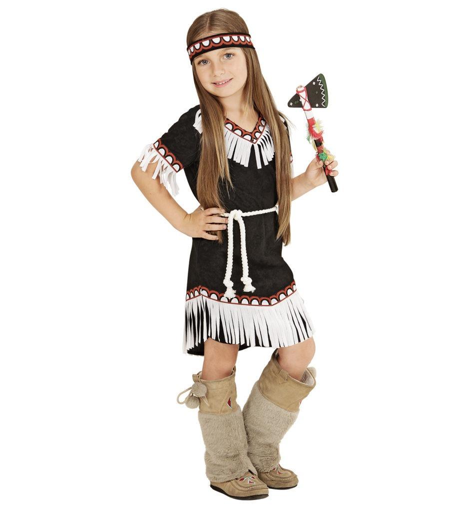 indianerpige kostume indiander fastelavnskostume til piger indianer kostume til børn indianer kjole indianerpige børnekostume indianerprinsesse