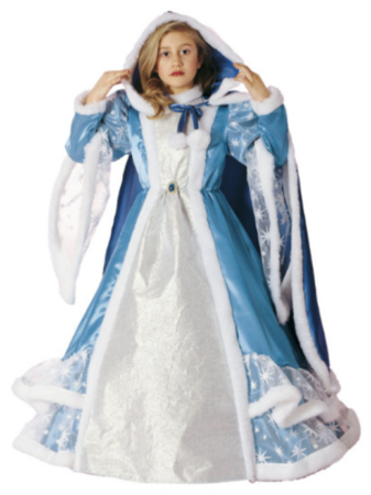 isprinsesse vinterkostume vinter prinsesse børnekostume fastelavnsudklædning luksus