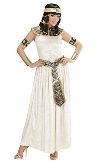 kleopatra kostume til voksne hvid kleopatra kjole egyptisk dronning kostume