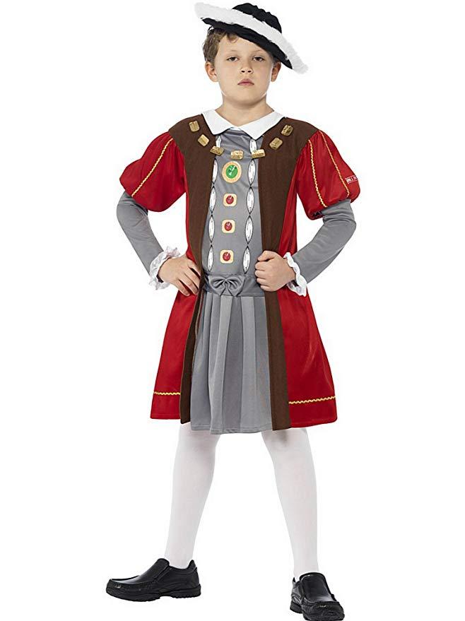 konge kostume til børn kong henrik the 8th kong henrik kostume fastelavnskostume engelsk kostume til børn kongeligt børnekostume