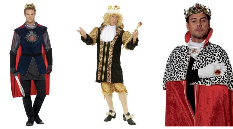 konge kostume til voksne barok middelalder konge kongekåbe kongekrone kongekostume til karneval konge udklædning kostume til sidste skoledag