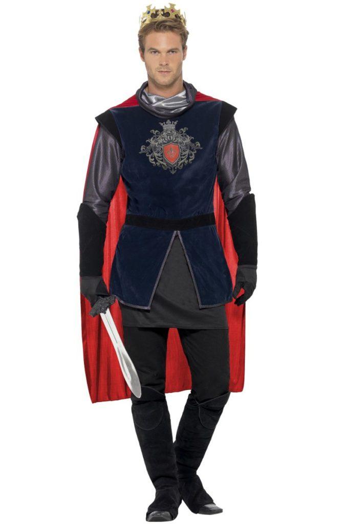 konge kostume til voksne middelalder konge kongekåbe kongekrone kongekostume til karneval konge udklædning kostume til sidste skoledag