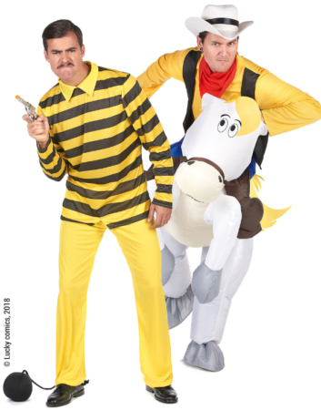 lucky luke og dalton kostume til voksne 60erne kostume