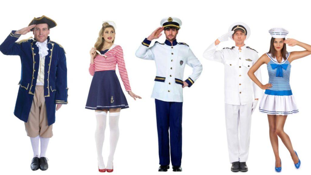 maritimt kostume til voksne sømand udklædning til søs kostume søkaptajn kostume søofficer kostume matros kostume flåde admiral kostume