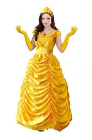 prinsesse belle kostume til voksne disney udklædning kvinder gul udklædning til kvinder