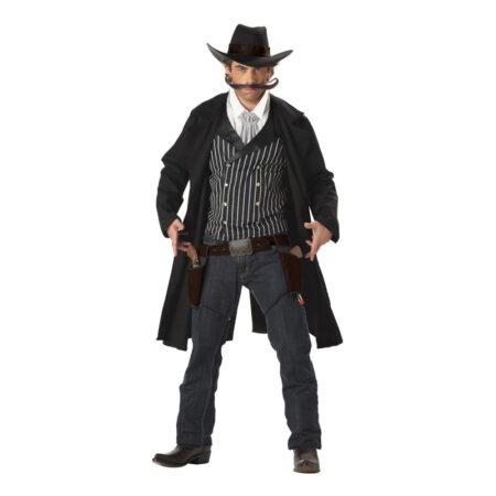 revolvermand kostume til voksne cowboy udklædning