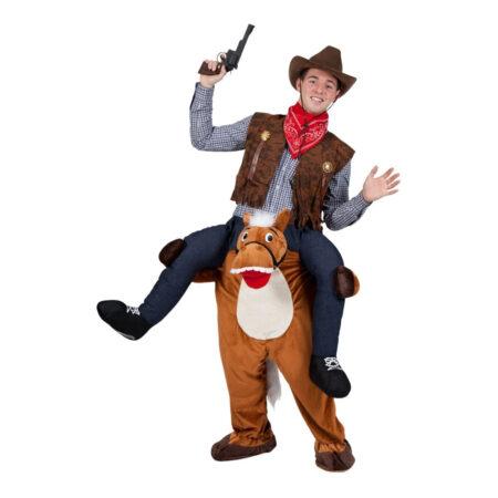 ridende hest kostume 450x450 - cowboy kostume til voksne