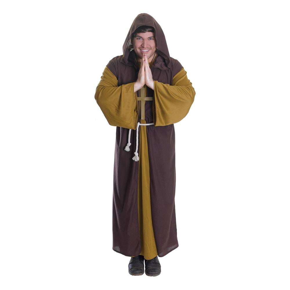 robin hood kostume til voksne munkekostume til voksne sherwood kostume broder tuck kostume rollespil kostume middelalder kostume