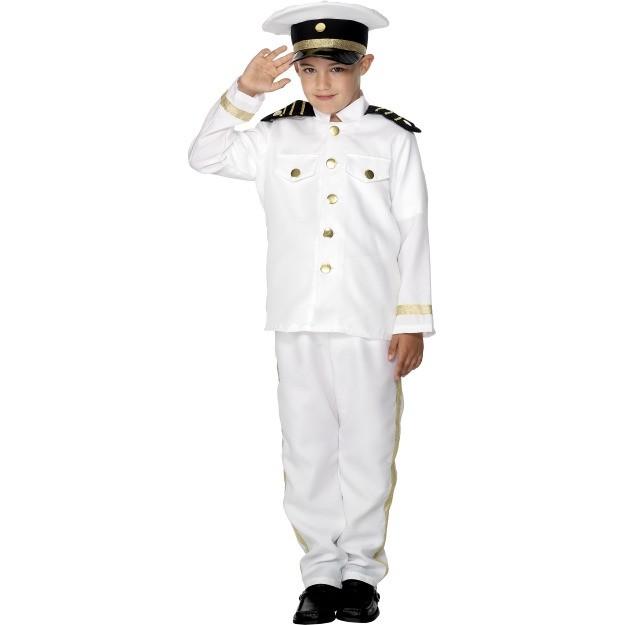 sømand kostume til børn kaptan kostume til drenge søofficer kostume fastelavnskostume uniform