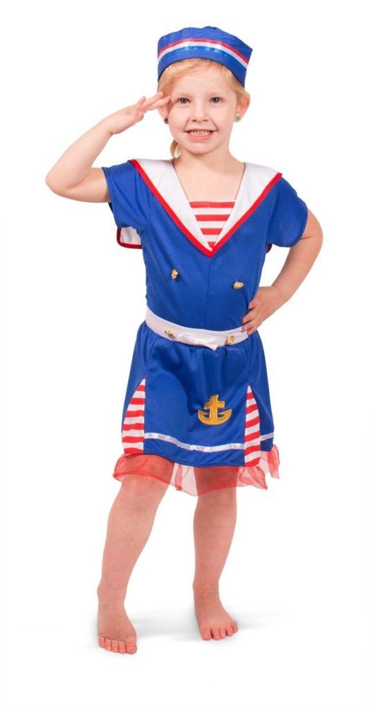 sømand kostume til børn matrospige matros kostume til piger sømand børnekostume udklædning sømand fastelavn