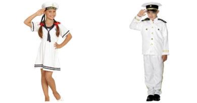 sømandskostume til børn sejlerpige matros kostume til piger fastelavnskostume til piger sømand udklædning piger billigt kostume fastelavn