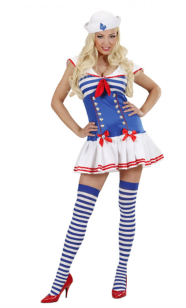 sømand kostume til kvinder 271x450 - Sømand kostume til voksne