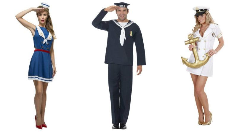 sømand kostume til voksne fru kaptajn kostume kvindelig kaptajn kostume sidste skoledag udklædning til karneval kaptajn pige kostume sailor kostume skipper kostume