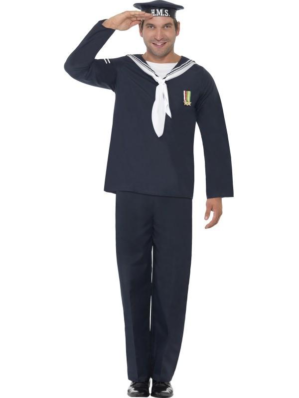 sømand kostume til voksne matros kostume lakaj kostume til voksne kaptajn udklædning fastelavnskostume til voksne udklædning temafest