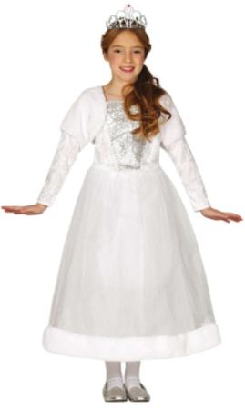 sneprinsesse hvid prinsesse kjole til piger hvidt kostume til børn