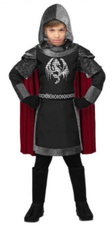 uhyggelig ridder børnekostume frygtindgydende ridder halloween kostume til børn