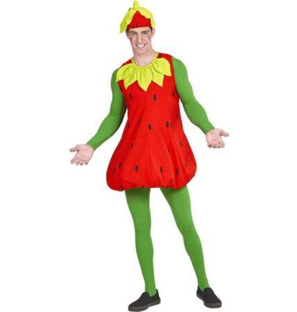 Jordbær kostume 428x450 - Frugt kostume til voksne